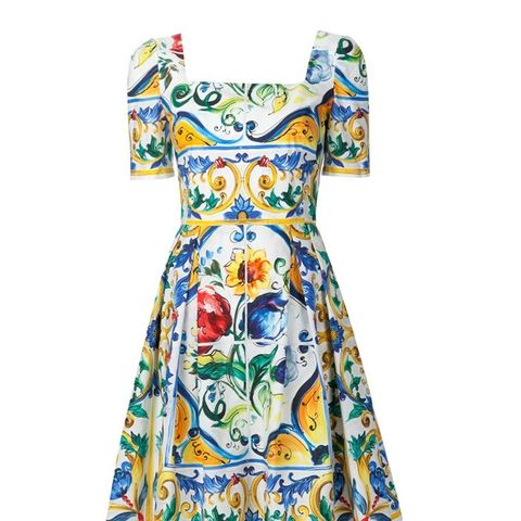 Majolica Print Dress