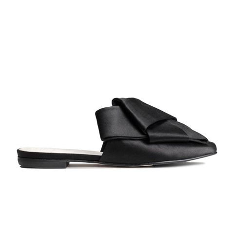 Silk Blend Slip-On Sandals