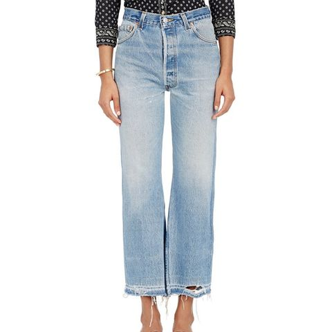 The Leandra Crop Flared Jeans
