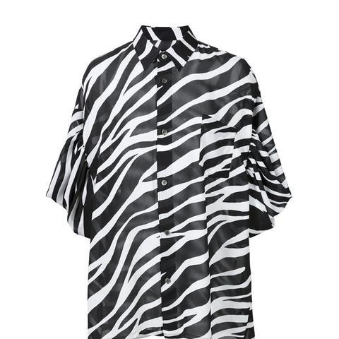 Zebra Print Oversized Shirt