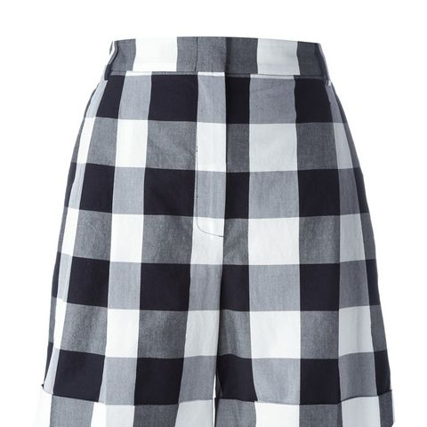 Oversized Gingham Shorts