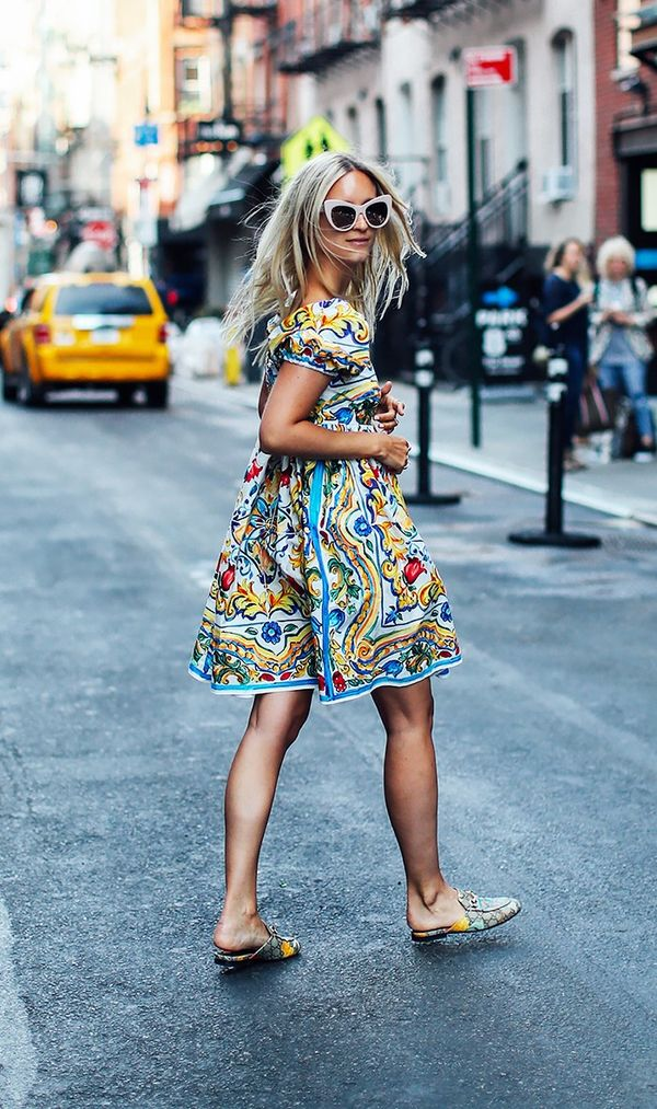 4. Opt for shorter dresses with bigger prints.