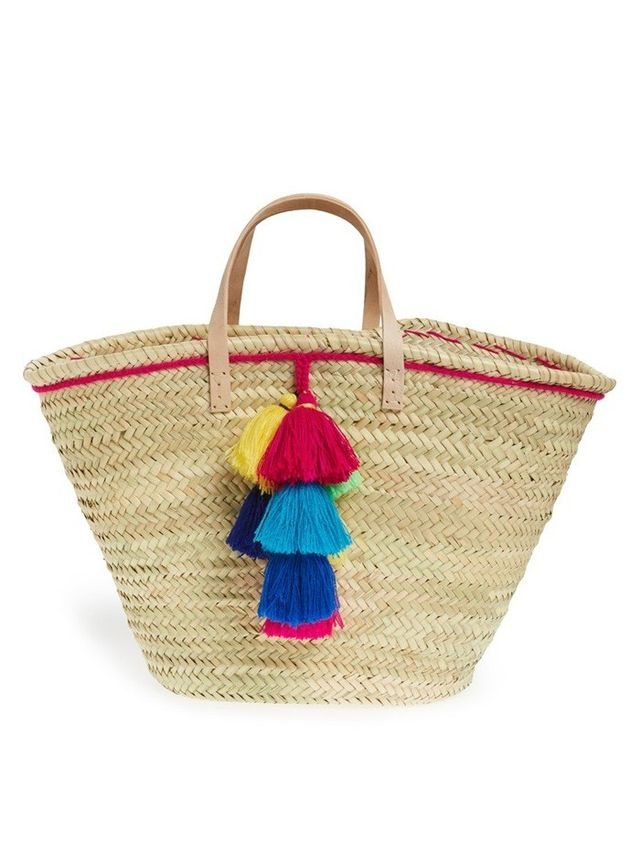 House of Perna Remy Woven Straw Tote