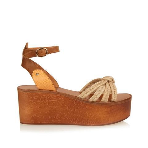 Zia Wooden Faltform Sandals