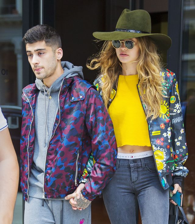 Matching print bombers aside, we think the high point of Gigi's get up is definitely her wide-brimmed moss green fedora. A little more structured than a 70s floppy brimmed hat, this hat has...