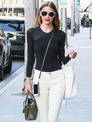 Jaime King Took Her White Jeans to the Next Level
