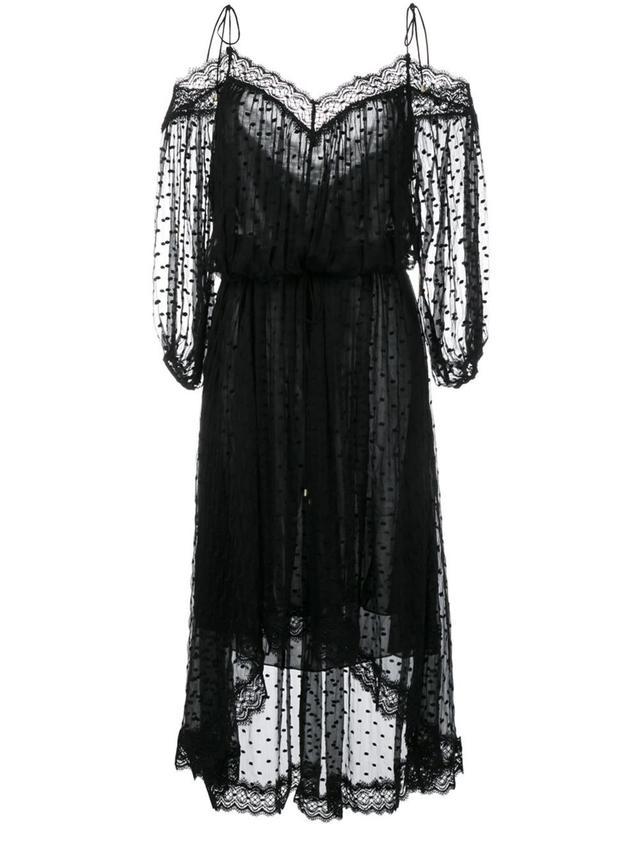 Zimmermann Cold-Shoulder Lace Dress