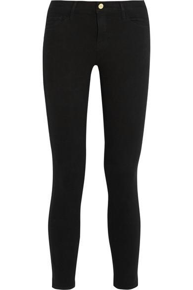 Frame Denim Le Skinny de Jeanne Crop Mid-Rise Jeans