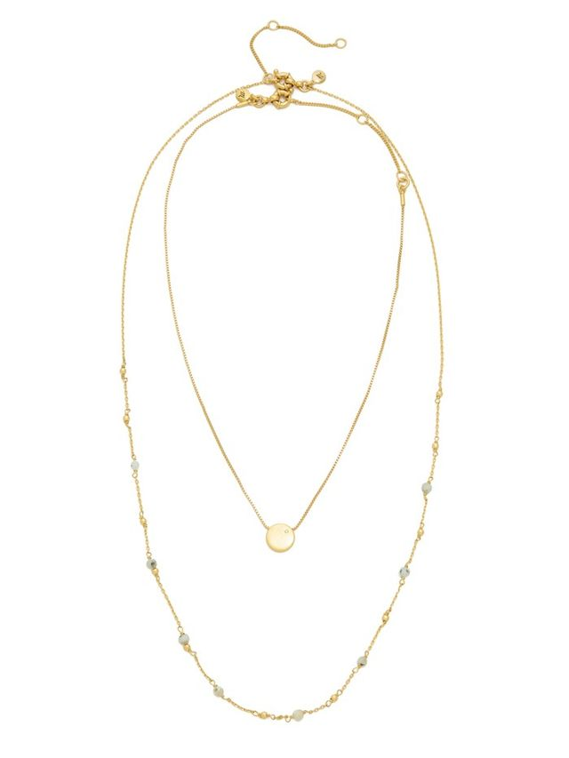 Madewell Coin Dot Double Layer Necklace
