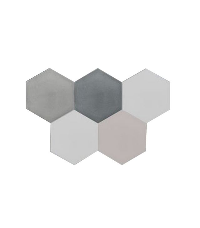 Villa Lagoon Tile Mixed Gray Hex Cement Tile