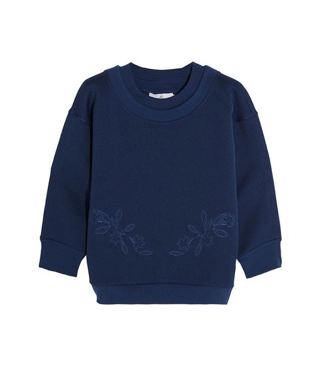 Adidas by Stella McCartney Embroidered Jersey Sweatshirt