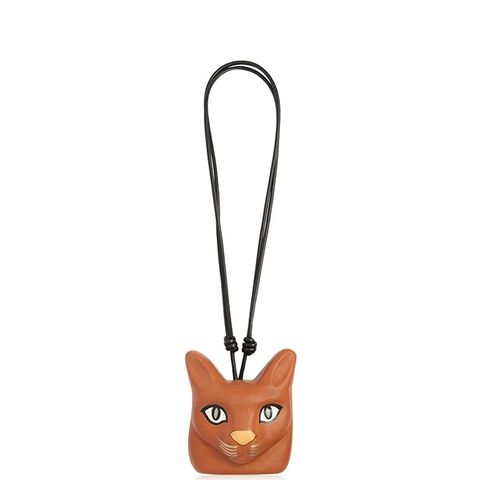 Hand-Painted Cat Face Necklace