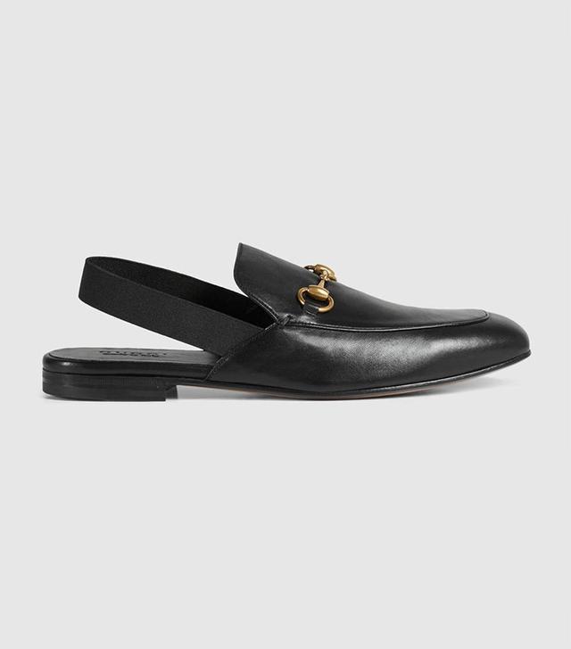 Gucci Leather Horsebit Slingback