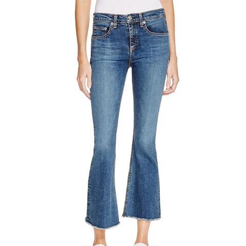 Crop Flare Jeans in Paz