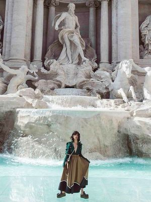 An Insider's Look at Fendi's Trevi Fountain Runway Show