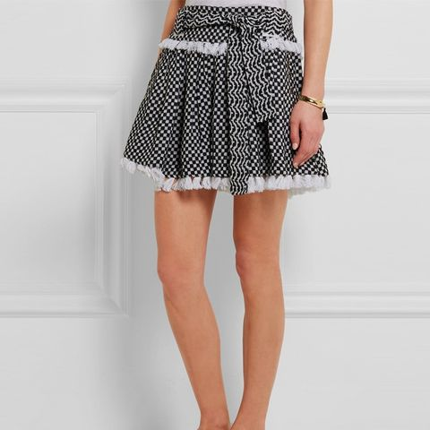 Tasseled Cotton-gauze Mini Skirt