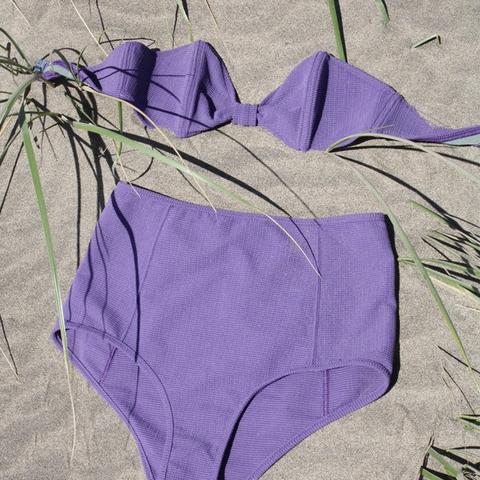 Oh Cheri Bikini Set in Textured Violet