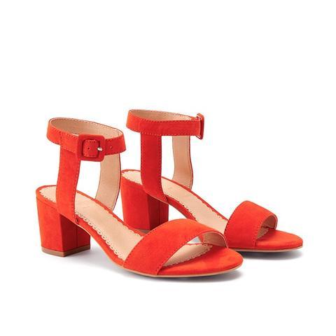 Stacked Heel Sandals