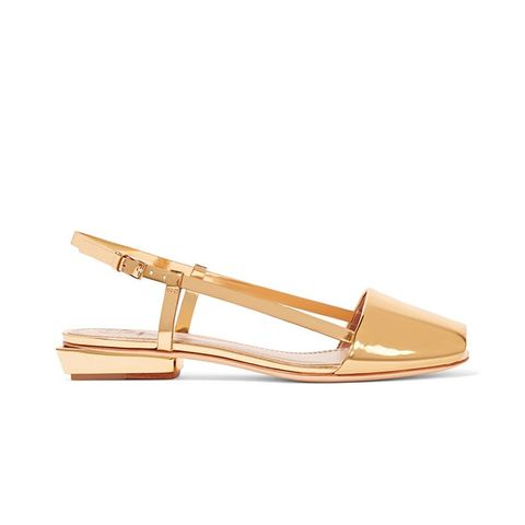 Pietra Mirrored-Leather Sandals