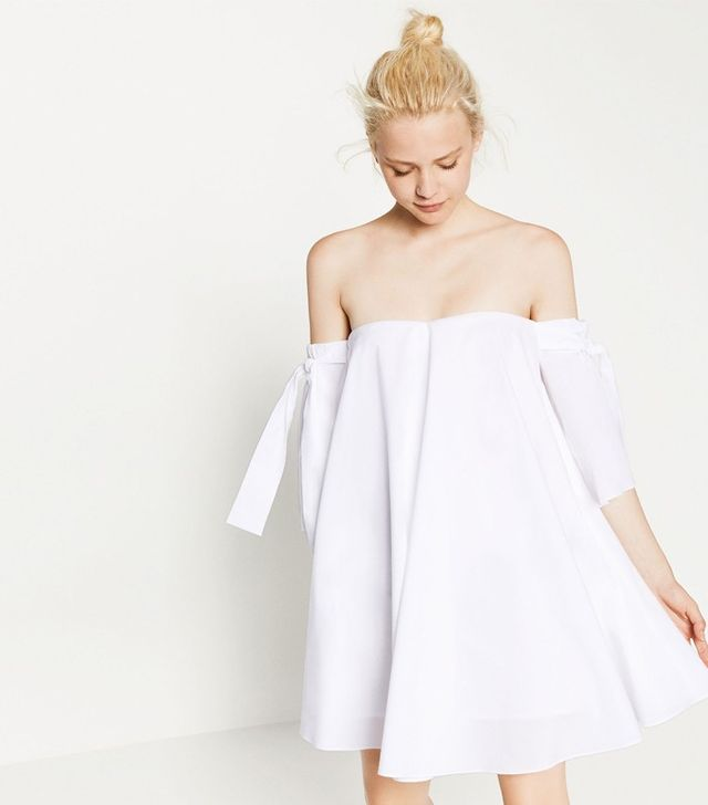 Zara Off-the-Shoulder Dress With Bow