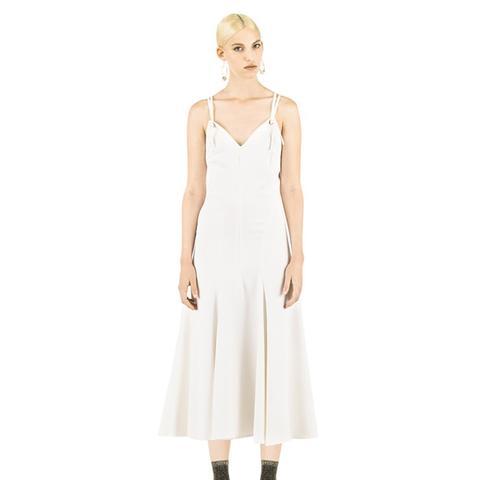 Cross-Back Viscose-Blend Midi Dress