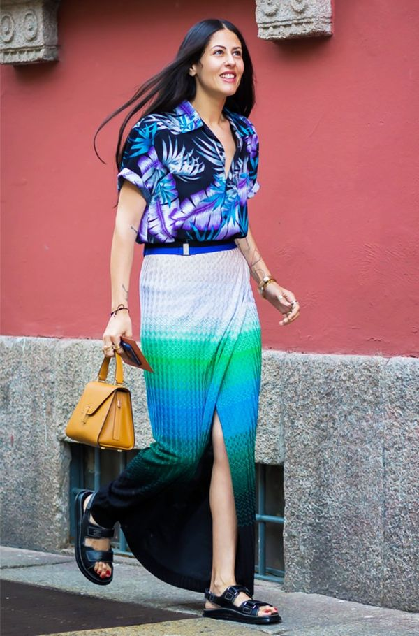 WHO: Gilda Ambrosio Style Tip:Mix your prints, but stay in the same color families.