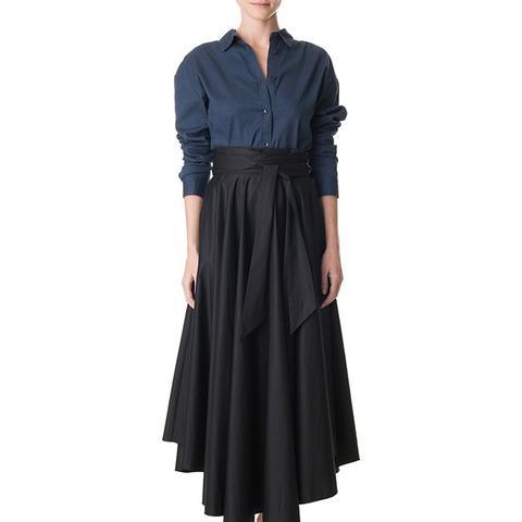 Poplin Belted Skirt