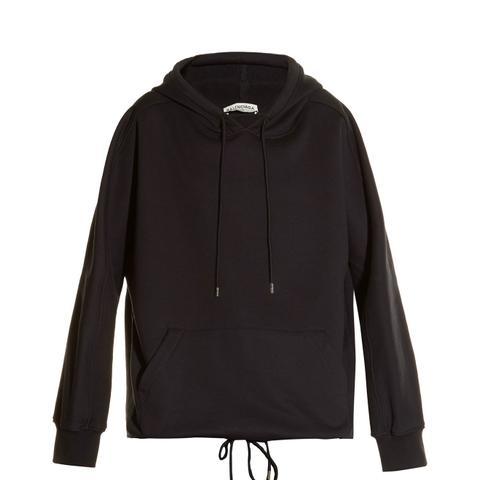 Cocoon-Back Hooded Sweatshirt