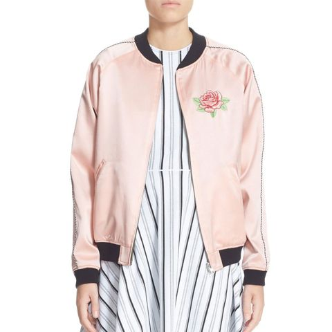 Reversible Embroidered Silk Bomber Jacket