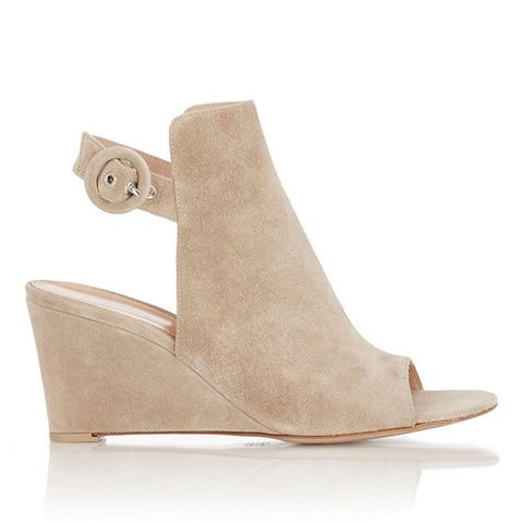 Open-Toe Wedge Sandal Booties