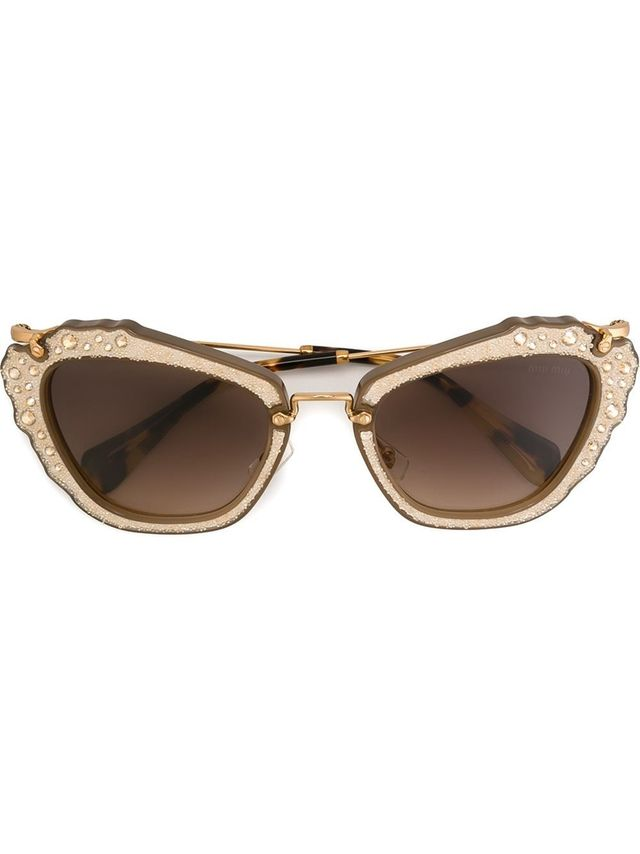 Miu Miu Embellished Sunglasses