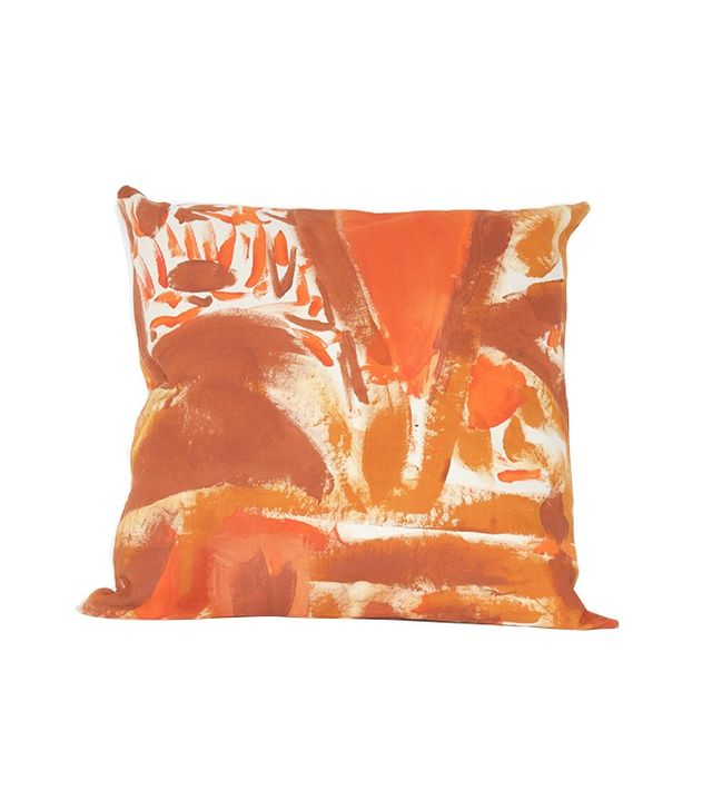 Naomi Clark Rust Two Hue Painted Floor Cushion