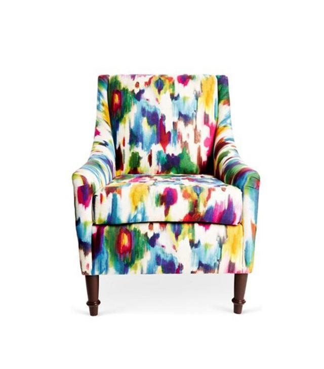 One Kings Lane Holmes Chair, Watercolor Multi