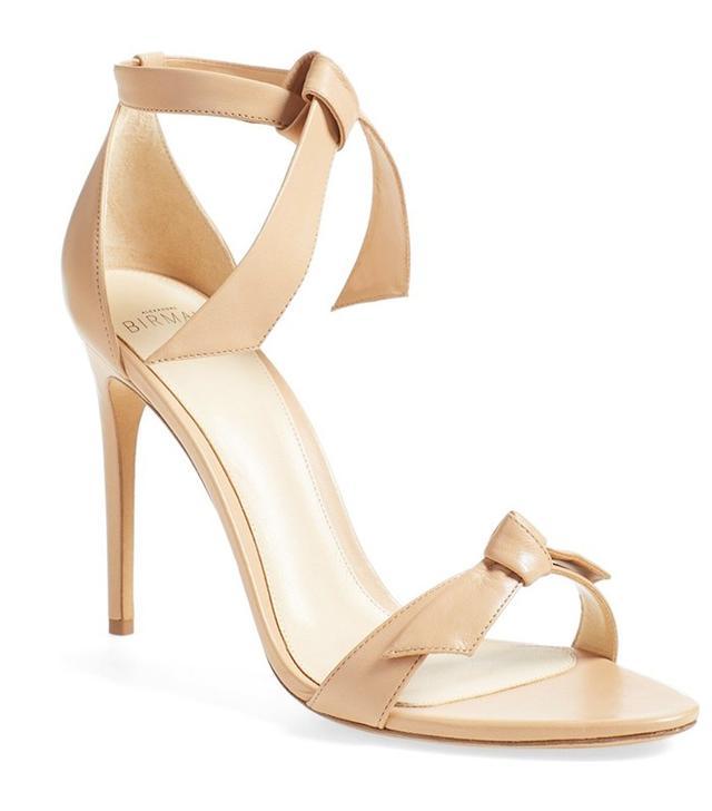 Alexandre Birman Clarita Leather Ankle-Tie Sandals