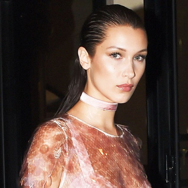 We Can't Stop Staring at This Sheer Bella Hadid Outfit