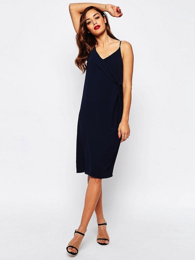 ASOS Twist Front Cami Slip Dress