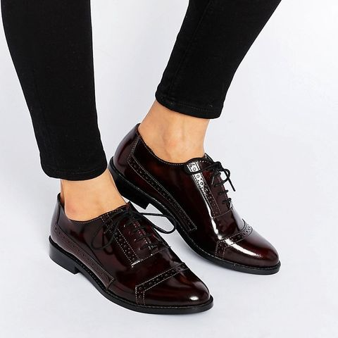 MAKE-UP Wide fit Leather Brogues