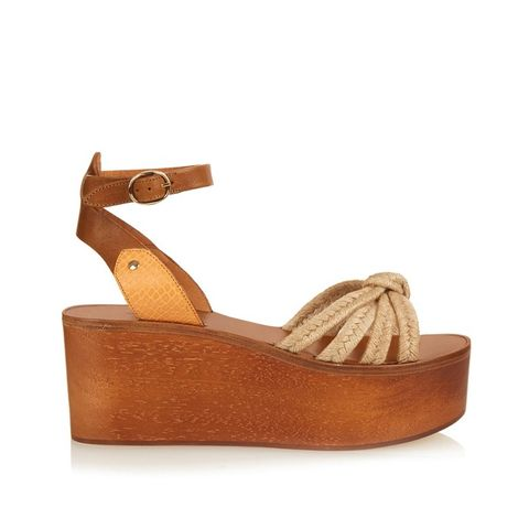 Zia Wooden Faltform Sandals