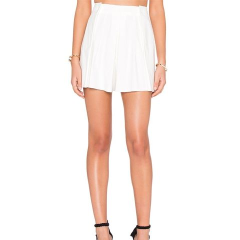 Pleated Front Short