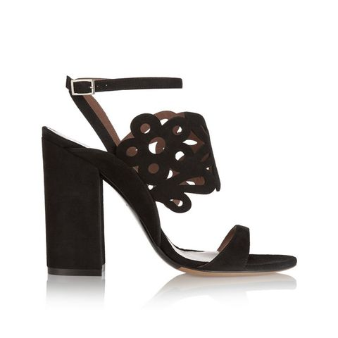 Emi Laser-cut Suede Sandals