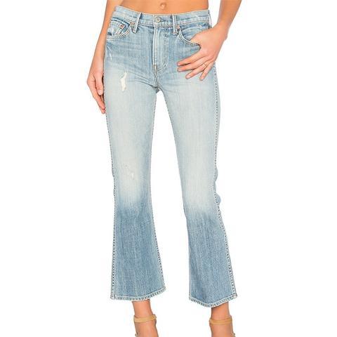 Joan Mid-Rise Crop Flare Jean