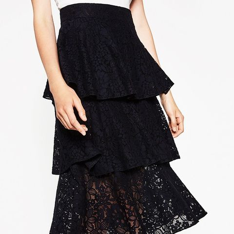 Frilled Lace Skirt