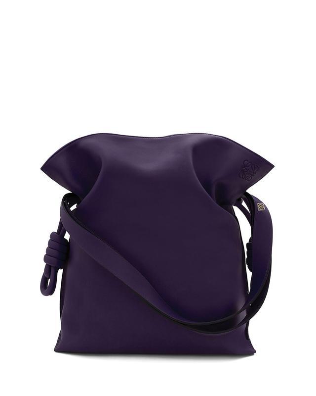 Loewe Flamenco Knot Bucket Bag in Violet