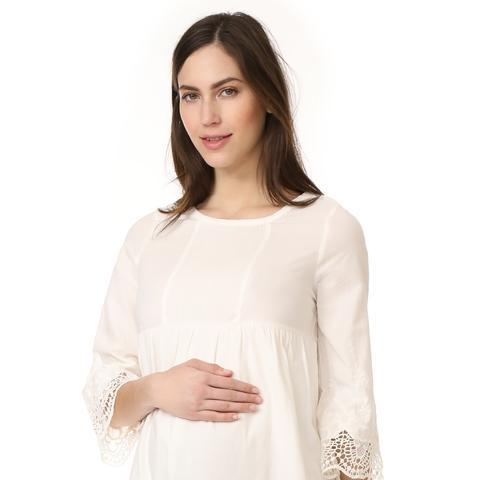 Lace Trim Belle Sleeve Dress