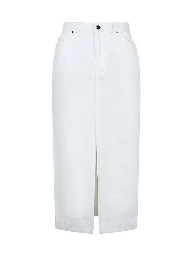 Topshop Boutique Denim Midi Skirt