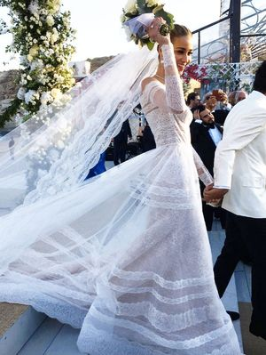This Victoria's Secret Model Had the Most Epic Greek Wedding—See the Pics