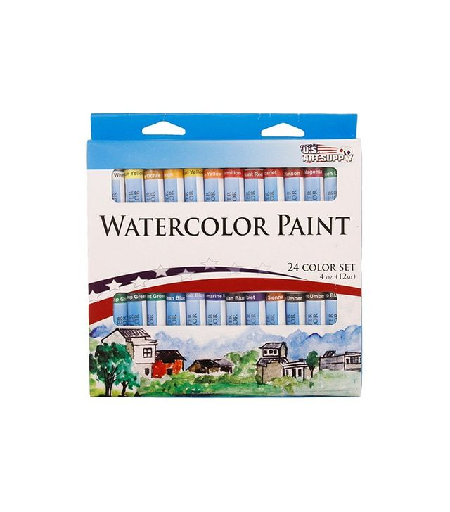 US Art Supply 12ml Watercolor Tube Artist Paint Set of 24