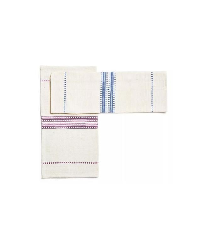 ABC Home Stripe Cotton Napkins