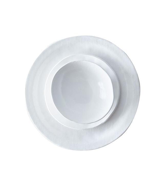 Looks Like White Handmade Porcelain Textured Dinnerware