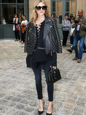 Olivia Palermo Wore Her Airport Jacket to a Couture Show